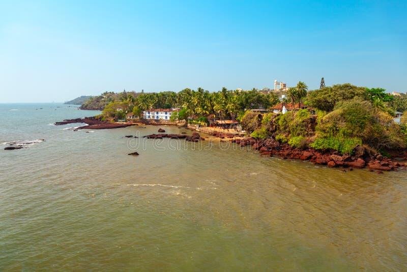 Ponto de vista do cabo de Dona Paula, Goa imagens de stock royalty free