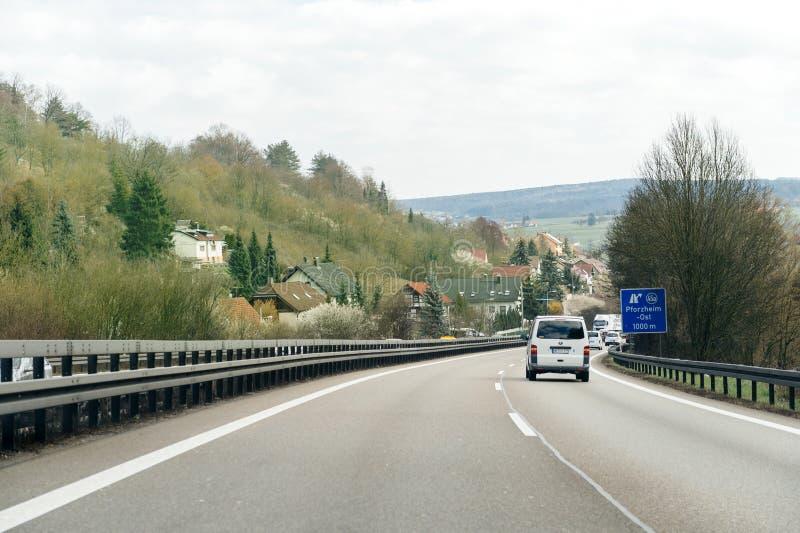 Ponto de vista do POV dos carros na estrada da estrada fotografia de stock royalty free