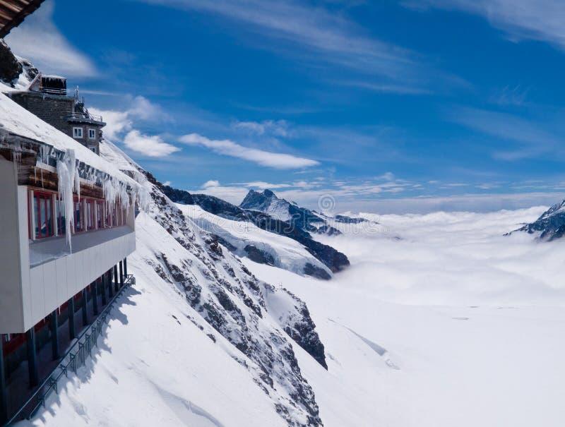 Ponto de vista em Jungfraujoch fotos de stock