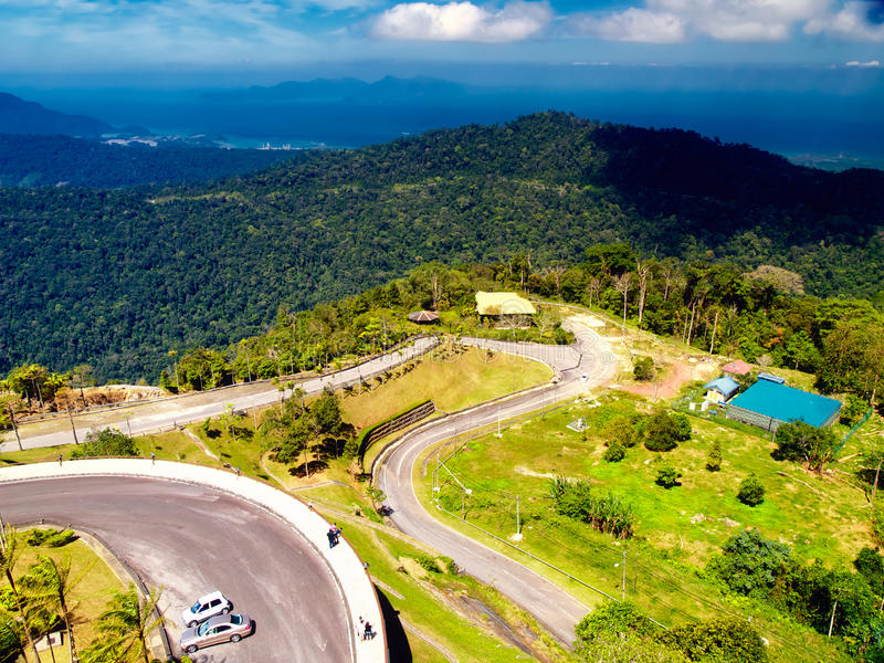 Ponto de vista no console de Langkawi. Malaysia imagens de stock royalty free