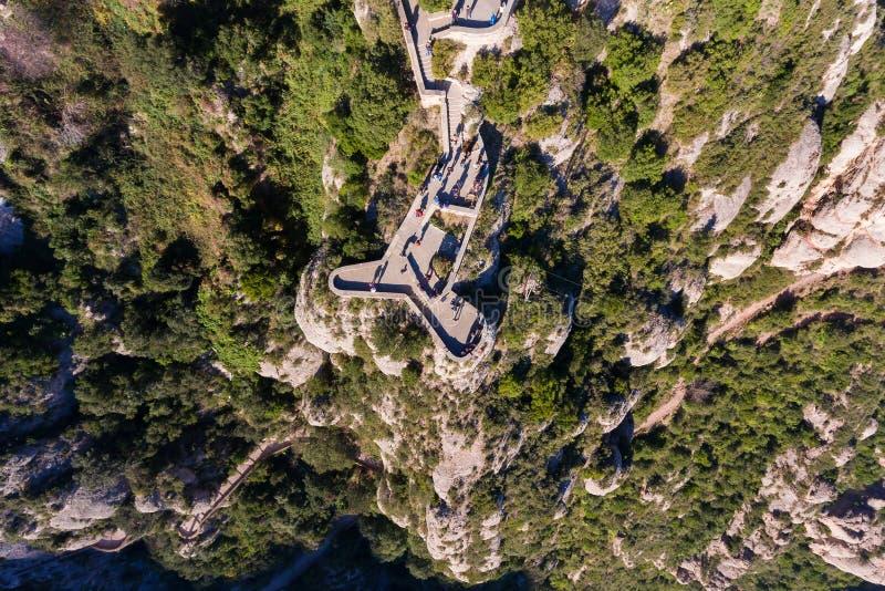Ponto de vista no monte, vista de cima de fotos de stock royalty free