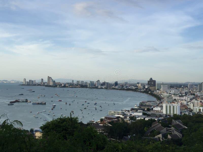 Ponto de vista Pattaya imagem de stock royalty free