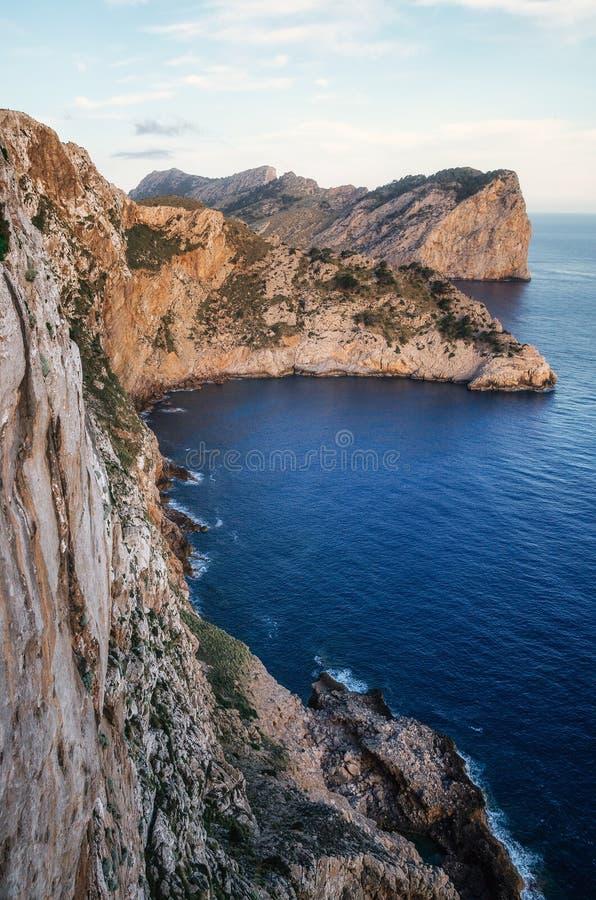 Ponto de vista a Tampão de Formentor, Mallorca fotografia de stock royalty free