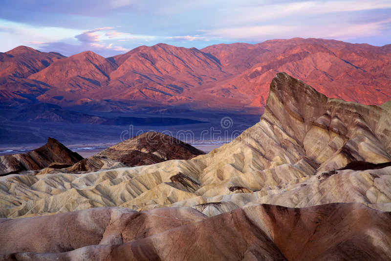 Ponto de Zabriskie, Death Valley foto de stock