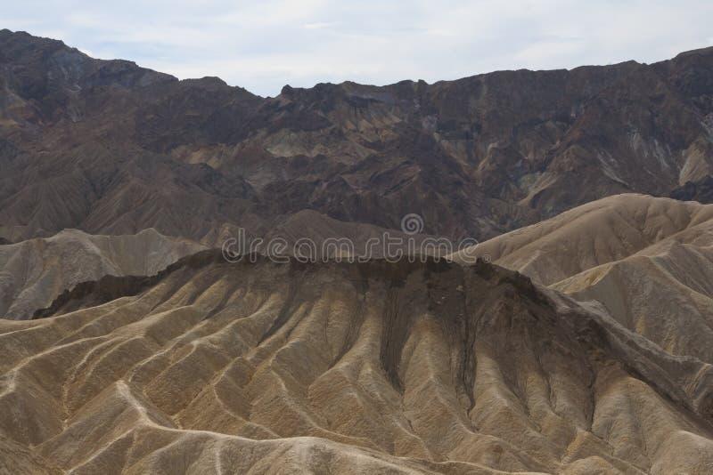 Ponto de Zabriskie, o Vale da Morte, Califórnia, EUA fotos de stock royalty free