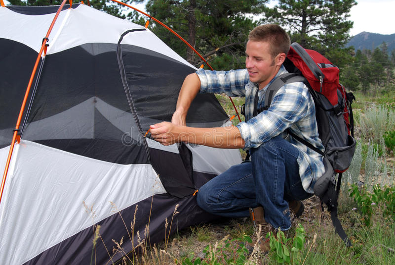 Ponto do acampamento imagens de stock