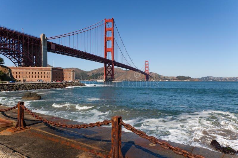 Ponto do forte de golden gate bridge imagem de stock royalty free