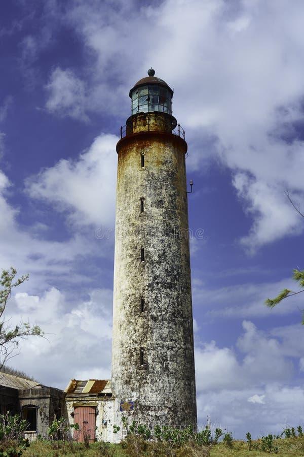 Ponto do leste - um dos quatro faróis em Barbados fotos de stock