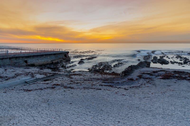 Ponto do mar, cabo ocidental, África do Sul imagens de stock royalty free