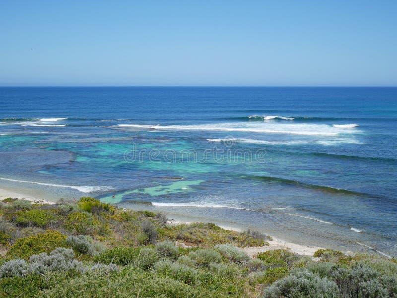 Ponto dos surfistas, Margaret River, Austrália Ocidental fotografia de stock royalty free