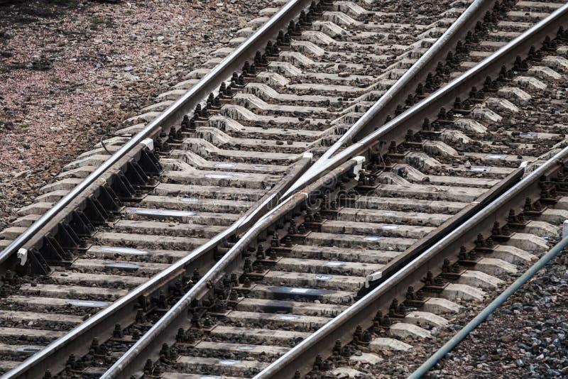 Ponto industrial moderno da estrada de ferro fotos de stock