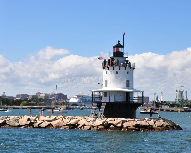 Ponto Ledge Lighthouse da mola imagem de stock