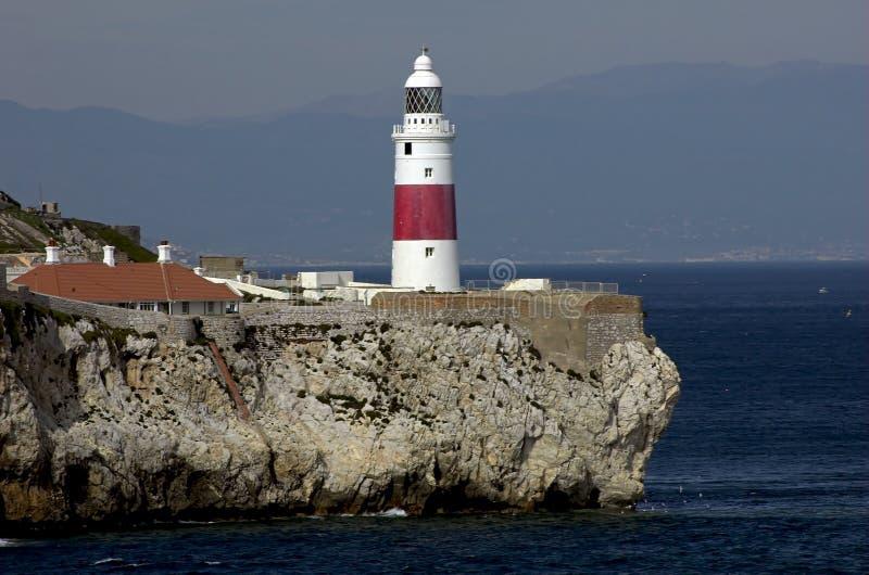 Ponto Lightho do Gibraltar-Europa imagem de stock royalty free