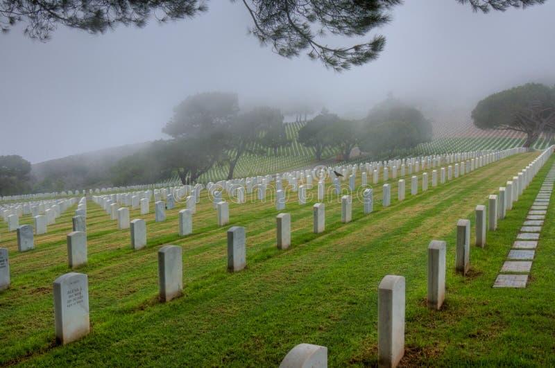 Ponto Loma Cemetery imagens de stock