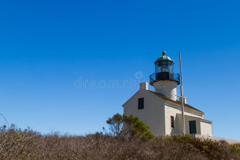 Ponto Loma Lighthouse foto de stock