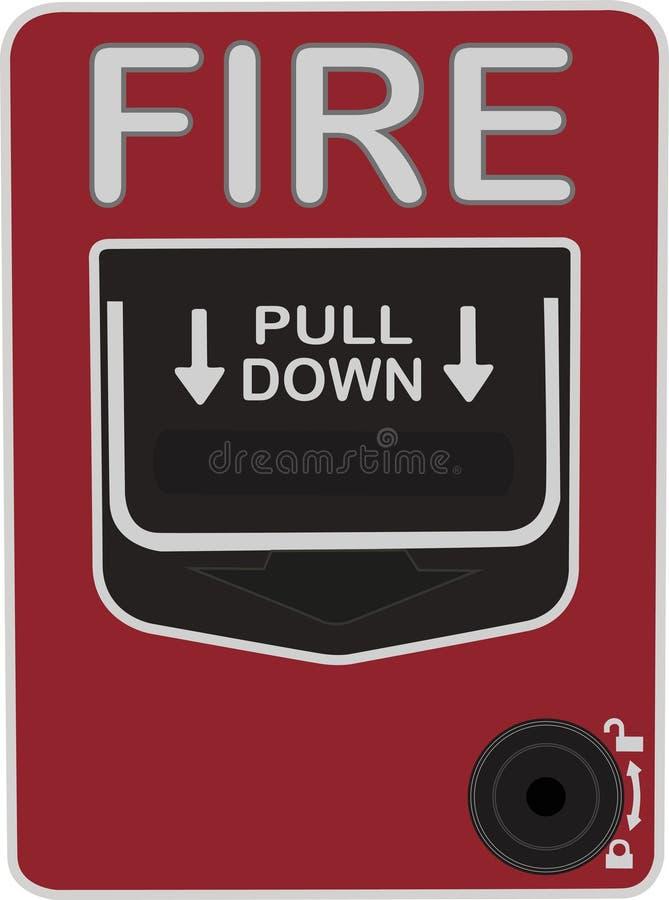 Ponto manual da chamada para a proteção do alarme de incêndio ilustração royalty free