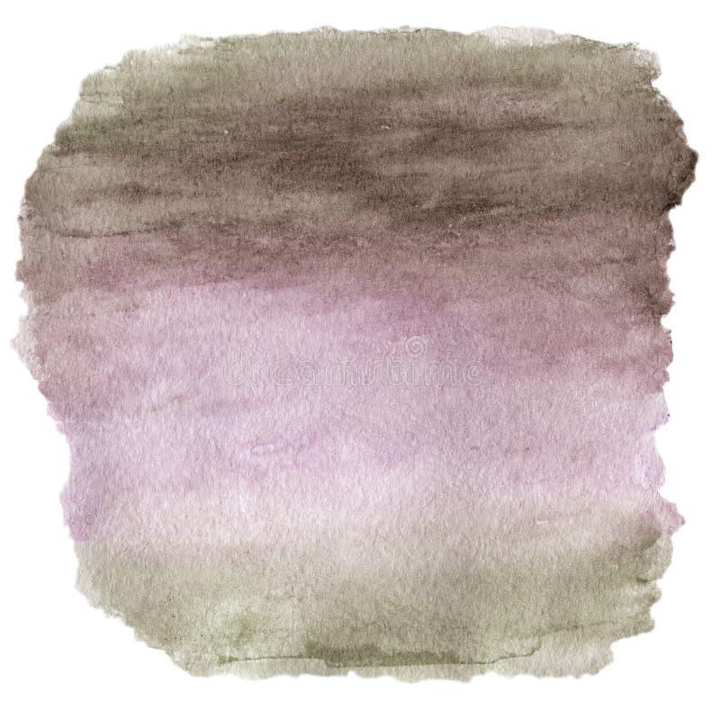 Ponto molhado colorido da tinta, textura pintado à mão abstrata da aquarela ilustração royalty free