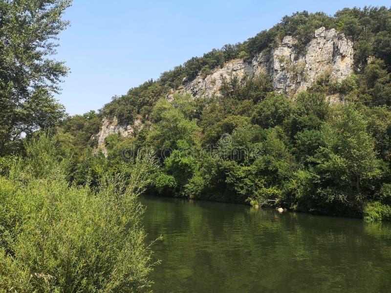 Ponto nadador no rio do ceze imagens de stock