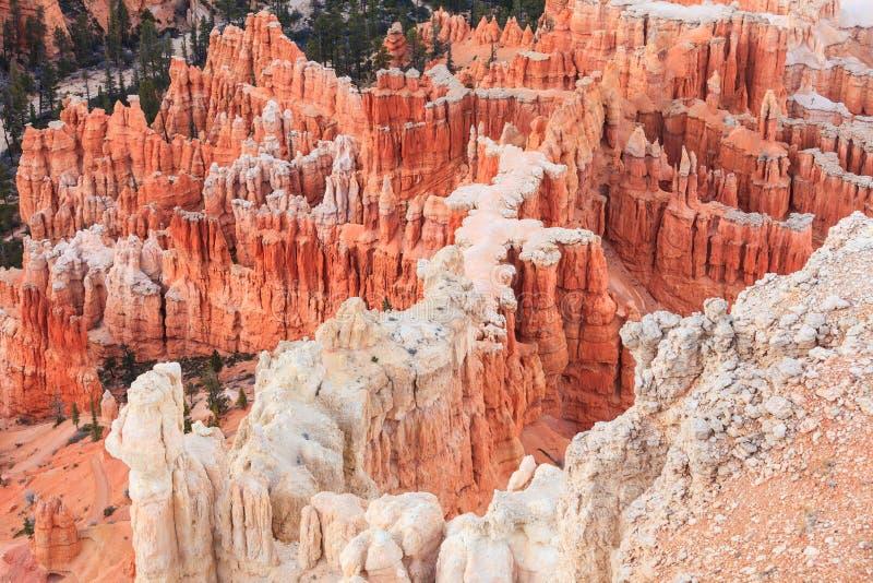 Ponto no nascer do sol, Bryce Canyon National Park da inspiração, Utá, fotos de stock royalty free