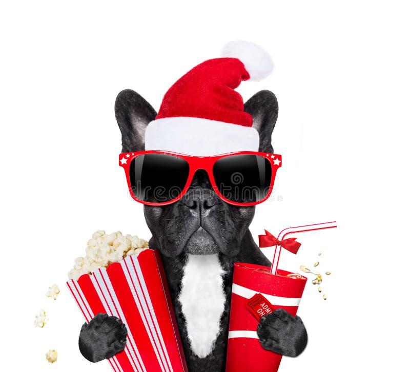 Ponto nos filmes em feriados do Natal foto de stock