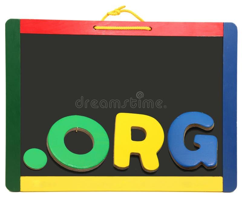 Ponto ORG do domínio do nível superior no quadro imagens de stock