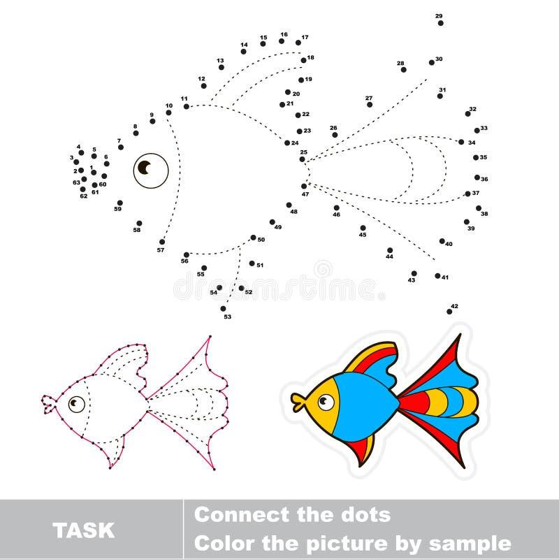 Ponto para pontilhar o jogo do traço para crianças ilustração stock