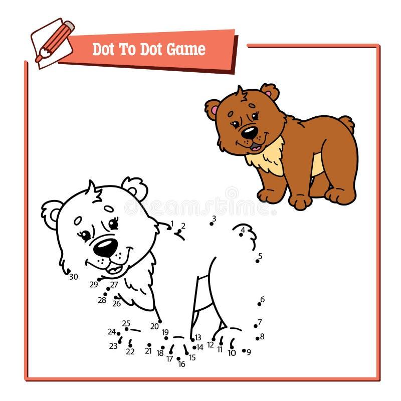 Ponto para pontilhar o jogo dos desenhos animados ilustração stock