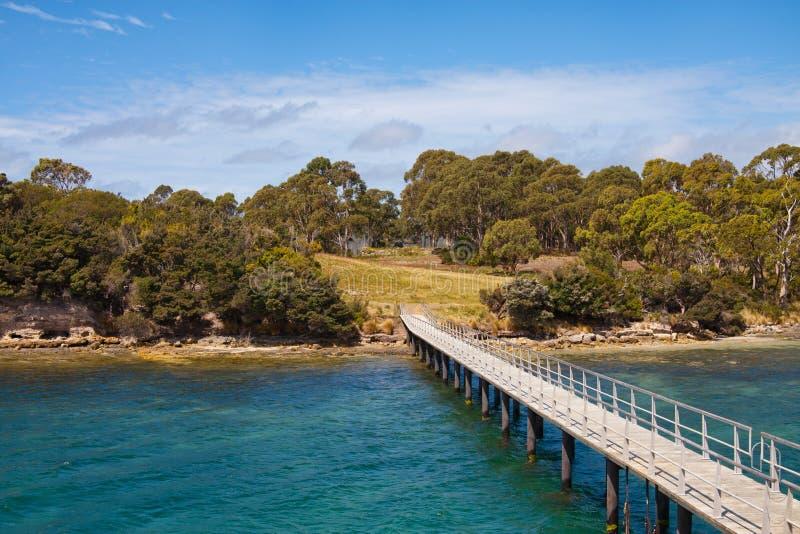 Ponto Puer no Port Arthur, Tasmânia, Austrália fotografia de stock