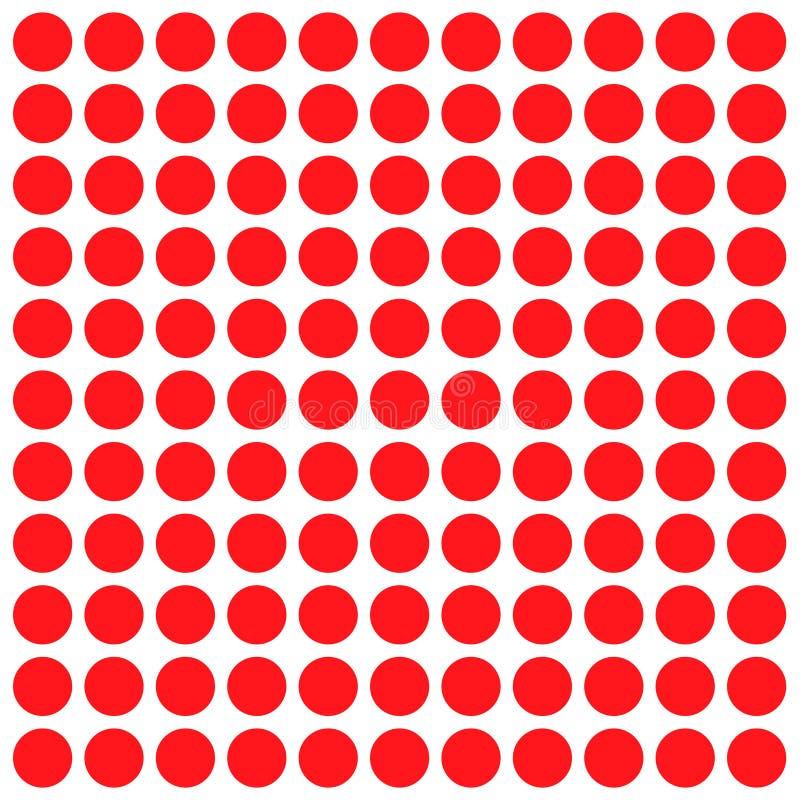 Ponto redondo do círculo vermelho sobre o plano de fundo branco para o plano de fundo do papel de parede ilustração do vetor