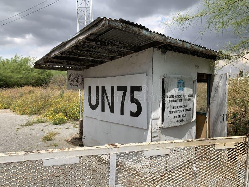 Ponto supervisório do UN em Nicosia imagens de stock royalty free