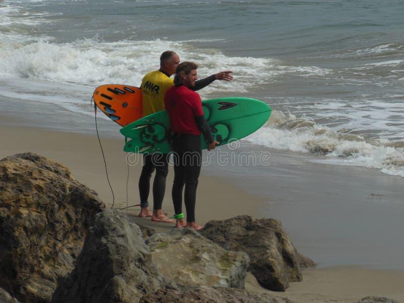 Ponto surfando Mugu 2018 da competição de Califórnia imagens de stock royalty free