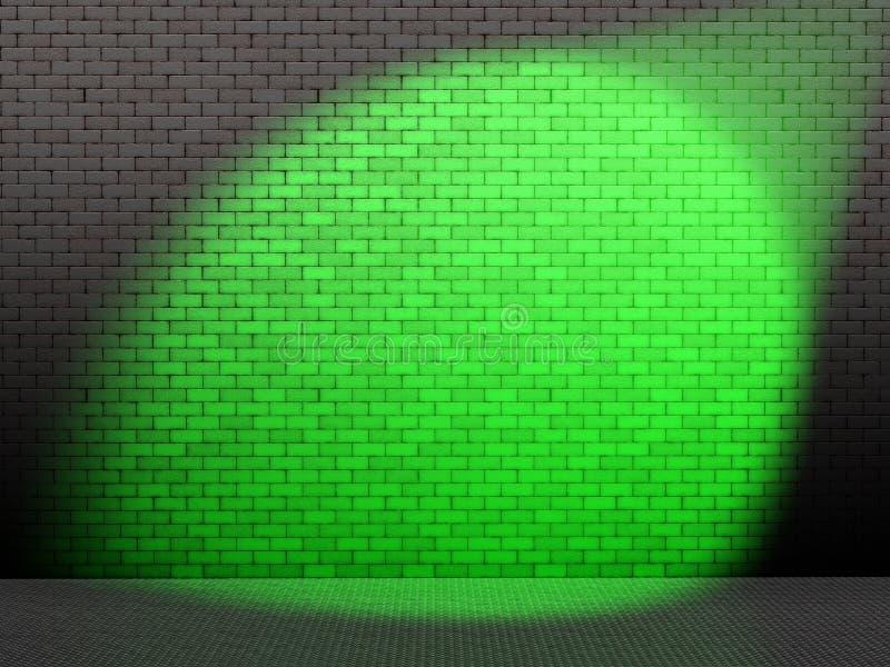 Ponto verde na parede ilustração royalty free