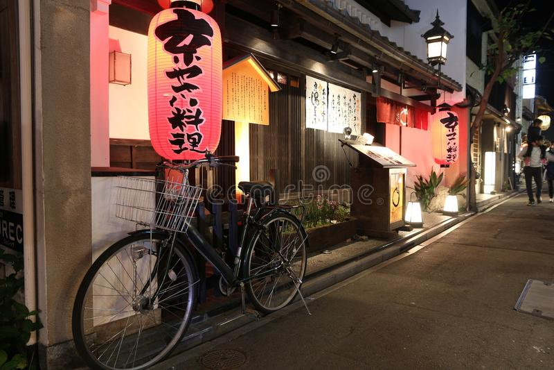 Pontocho, Κιότο στοκ φωτογραφία με δικαίωμα ελεύθερης χρήσης