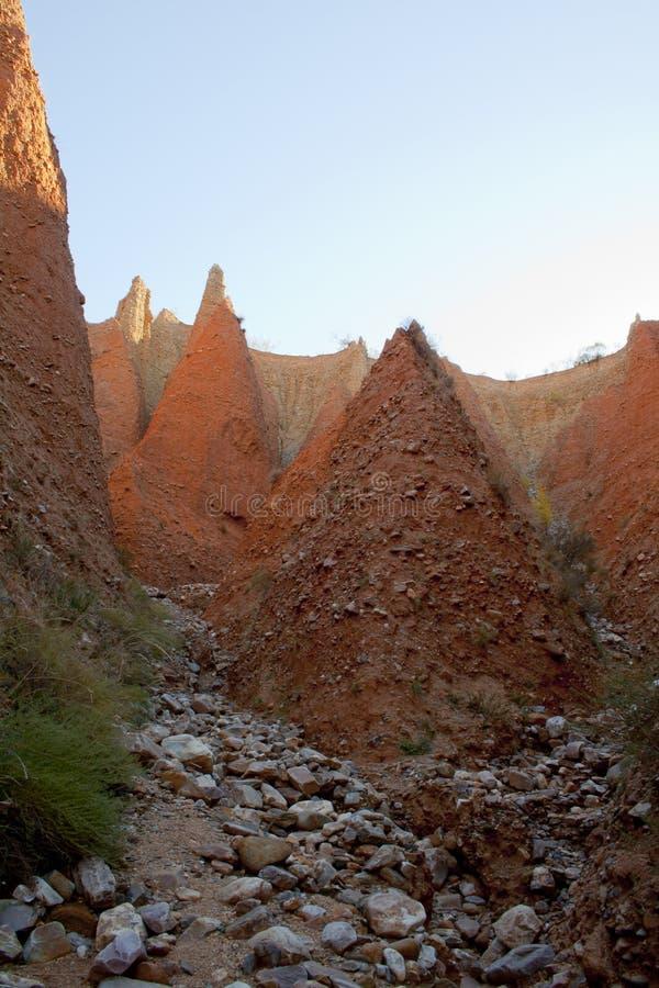 Ponton de la奥利瓦山脉,马德里省,西班牙荒地  免版税图库摄影