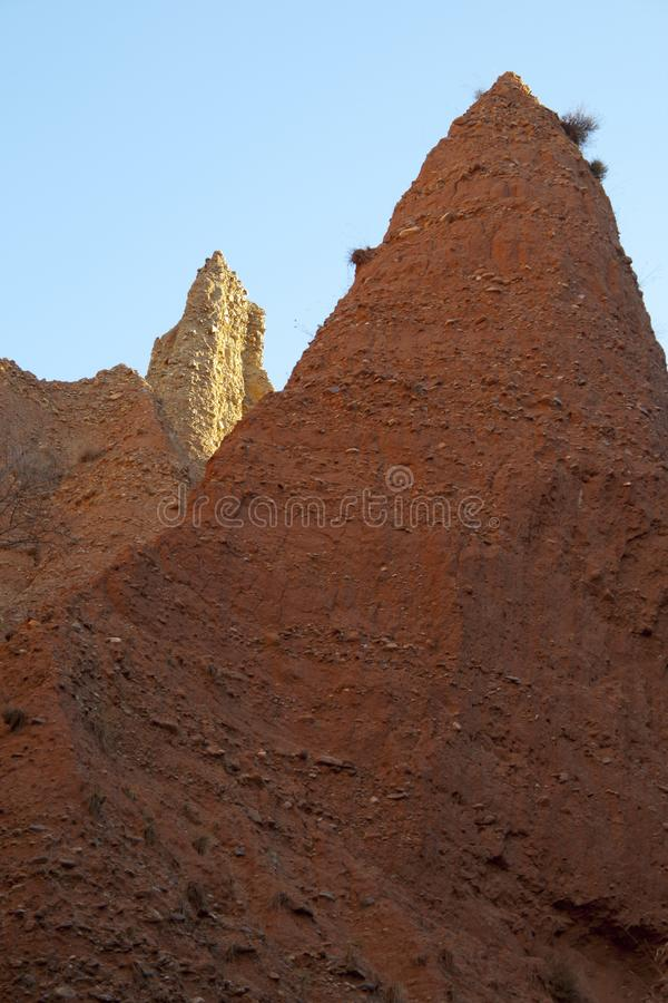 Ponton de la奥利瓦山脉,马德里省,西班牙荒地  免版税库存图片