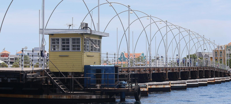 Pontonbrug Curaçao fotografía de archivo libre de regalías