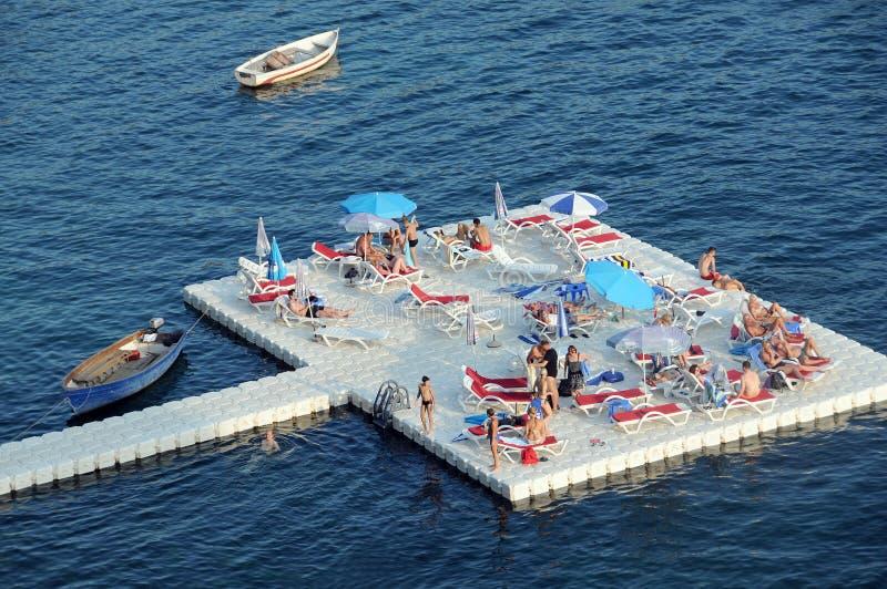 Pontonplaats in Ohrid stock fotografie
