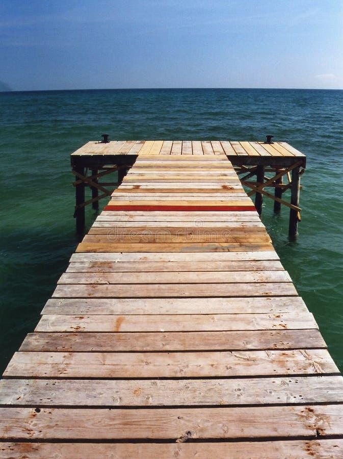 Free Pontoon And Sea Stock Image - 4132461