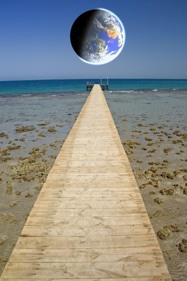 Free Pontoon On The Sea Stock Image - 3811091