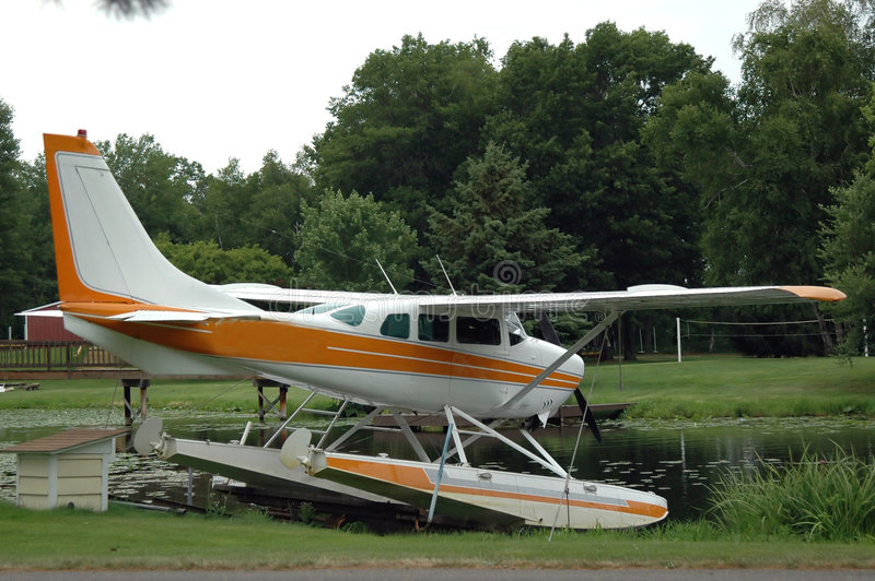 Pontoon Plane stock photo