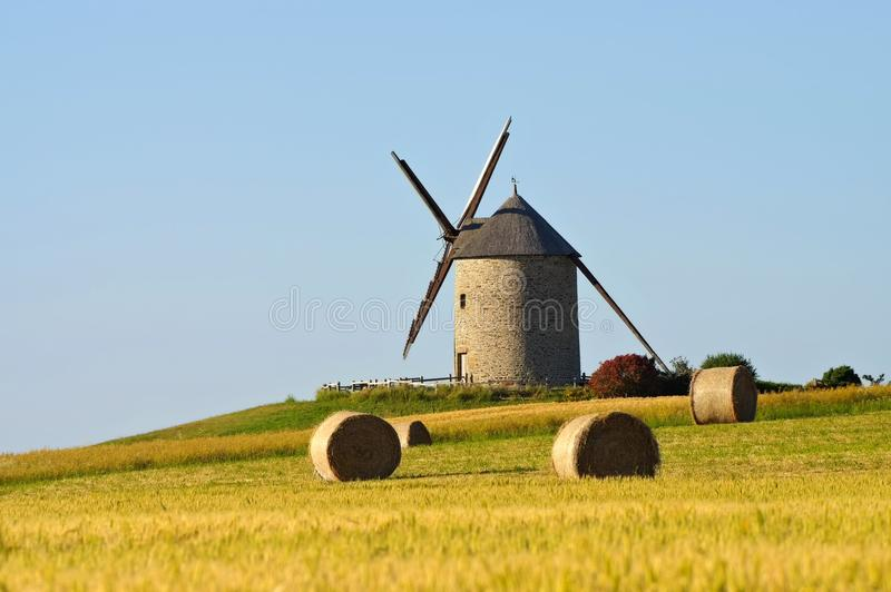 Pontorson Moulin de Moidrey in Normandia immagine stock libera da diritti