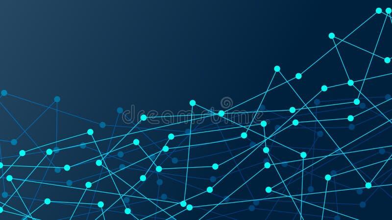 Pontos abstratos da conexão Contexto da ilustração de Digitas rede ilustração do vetor