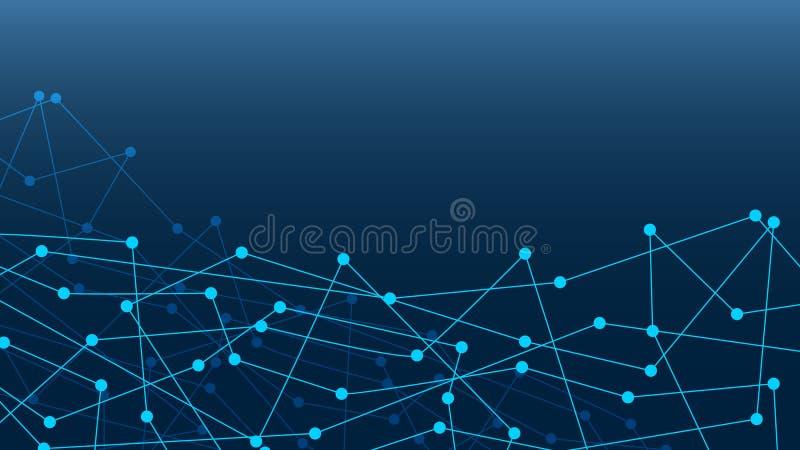 Pontos abstratos da conexão Contexto da ilustração de Digitas rede ilustração stock