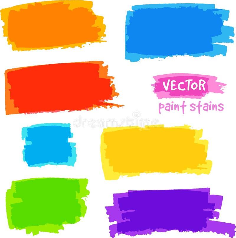 Pontos brilhantes da dor do vetor das cores do arco-íris ajustados ilustração do vetor