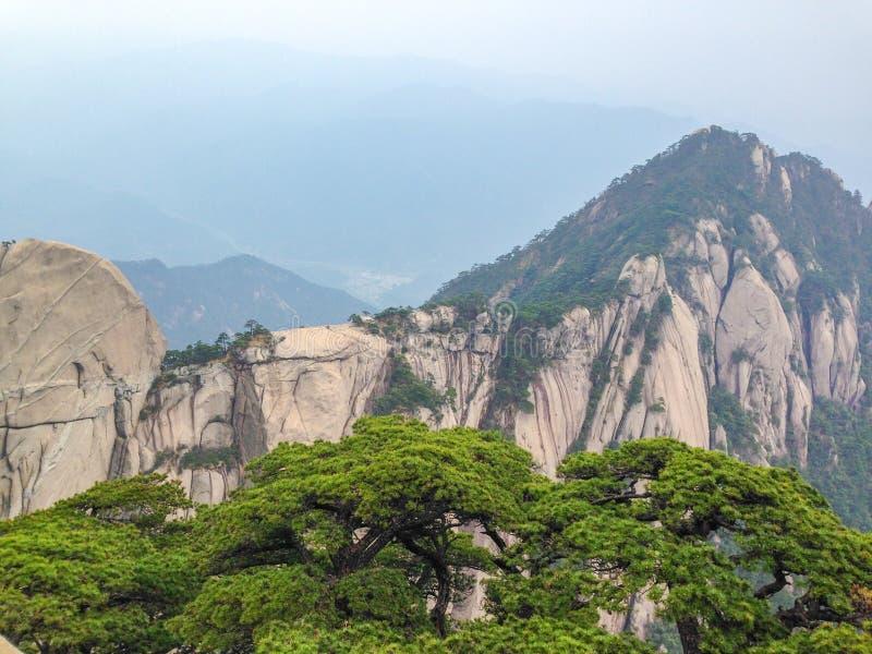 Pontos cênicos na montagem província de Huangshan, Anhui, China fotografia de stock royalty free