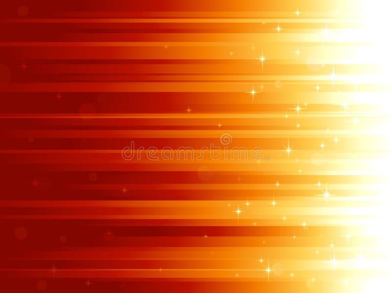 Pontos claros e estrelas no backg horizontalmente listrado ilustração stock