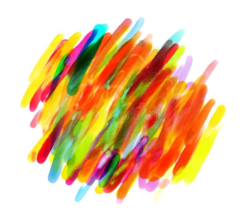 Pontos coloridos com uma escova ilustração royalty free