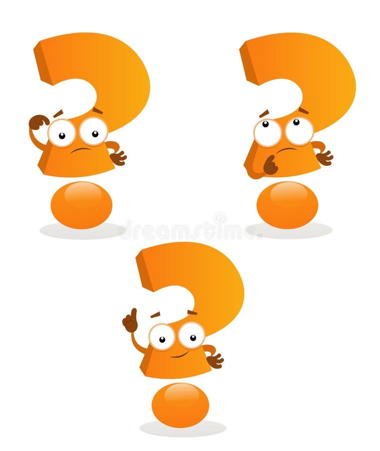 Pontos de interrogação ilustração stock