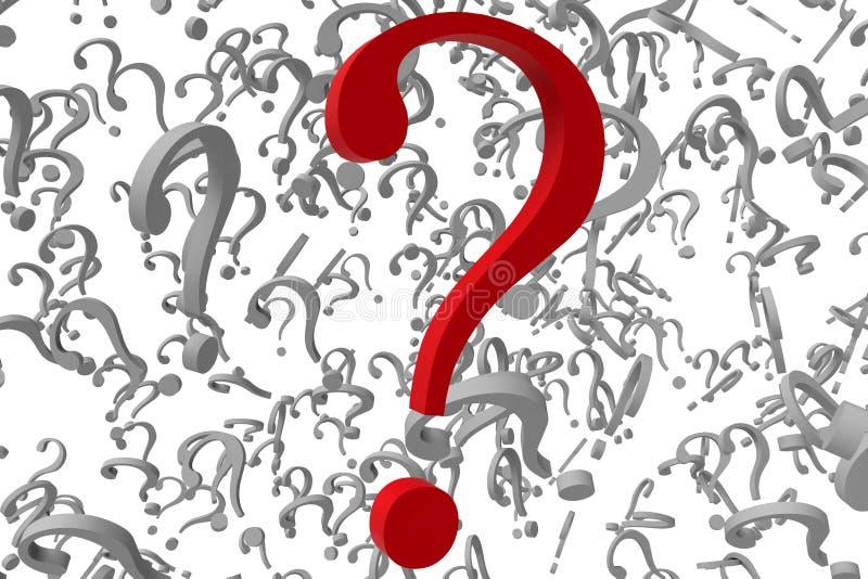 Pontos de interrogação do fundo ilustração do vetor