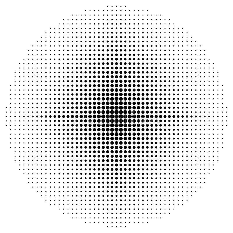 Pontos de intervalo mínimo do elemento, teste padrão de intervalo mínimo circular isolado no fundo branco Salpicaduras, fundo de  ilustração do vetor
